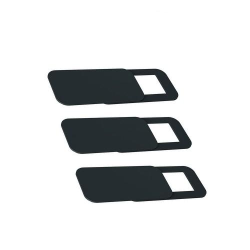 Комплект прямокутних заглушок на веб камеру із 3 шт чорного кольору Locker Cam Square Black 3