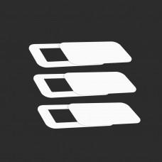 Кришка-шторка для веб камери квадратна 3шт LockerCamSquareWhite3