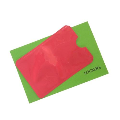 Футляр для пластикової карти з алюмінієвої фольги для RFID захисту червоний