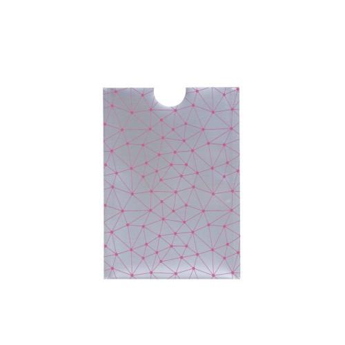 Чохол з фольги з RFID захистом банківських карт з pay pass з принтом рожевий