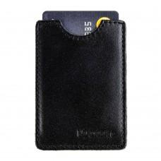 Чохол з RFID захистом шкіряний чорний Locker Card Black