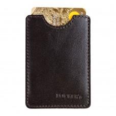 Чохол з RFID захистом шкіряний коричневий Locker Card Brown