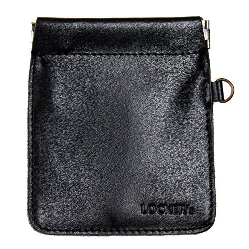 Протиугінний екрануючий чохол на пружинній застібці для авто ключа чорний Locker Key Snap Black S