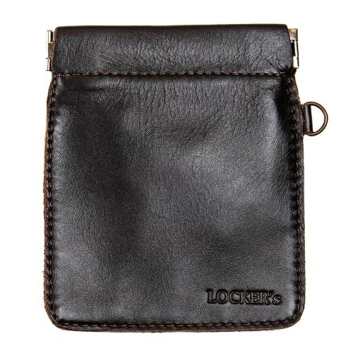 Протиугінний екрануючий чохол на пружинній застібці для авто ключа коричневий Locker Key Snap Brown S