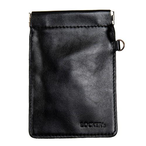 Протиугінний екрануючий чохол на пружинній застібці для авто ключа чорний Locker Key Snap Black M