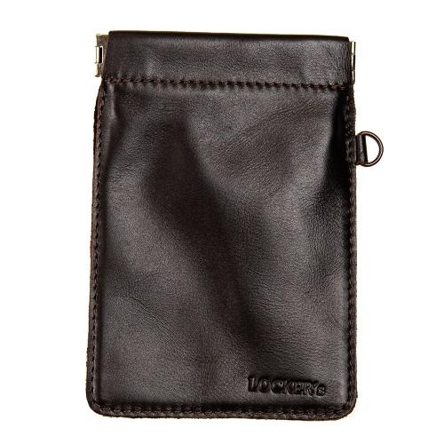 Чохол фарадея для ключів на пружинній застібці коричневий Locker Key Snap Brown M