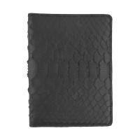 Обкладинка для паспорта з RFID захистом черная Locker Pas Python