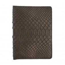 Обкладинка для паспорта з RFID захистом кавова Locker Pas Python