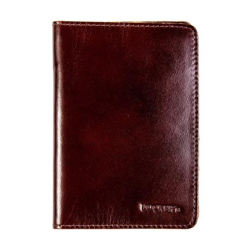 Екрануюча обкладинка для біометричного паспорта бордо Locker Pas2 Bordo