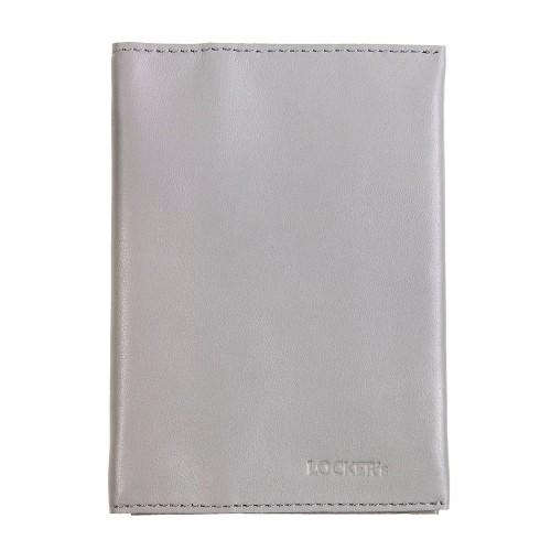 Обкладинка для паспорта та карт з RFID захистом сіра Locker Pas3 Gray