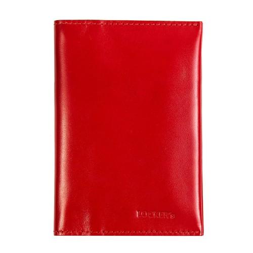 Обкладинка для паспорта та карт з RFID захистом червона Locker Pas3 Red