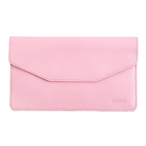 Екрануючий чохол для смартфона з натуральної шкіри рожевий Locker Phone Pink