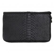 Клатч мужской с двумя экранирующими карманами для смартфона черный Locker Phone Purse2 Python