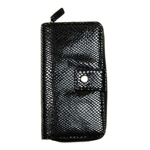 Шкіряний жіночий гаманець-клатч RFID захистом Locker Purse4 Snake