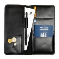 Дорожный органайзер для документов с RFID защитой Locker Travel Black