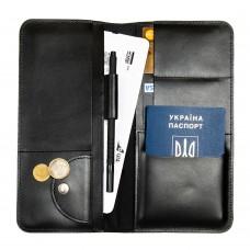 Дорожній органайзер для документів з RFID захистом Locker Travel Black