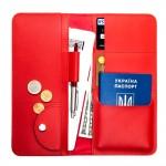 Дорожній органайзер для документів з RFID захистом Locker Travel Red