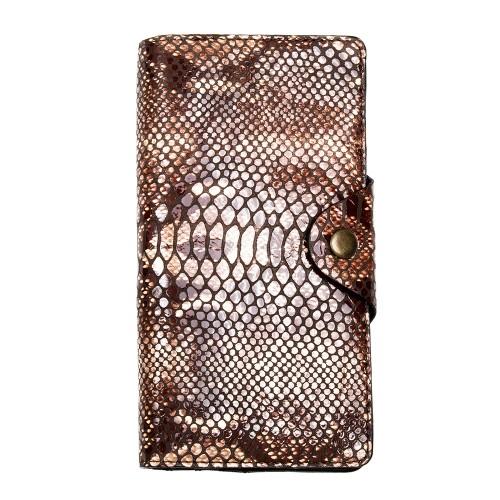Шкіряний гаманець подвійний Locker Wallet4 Snake